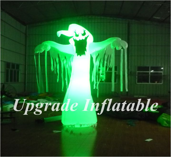 aliexpresscom buy outdoor inflatable halloween decorations ghost with colorful led lights from reliable ghost decoration suppliers on ace air art - Blow Up Halloween Decorations