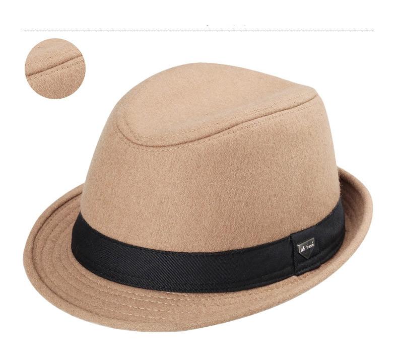 vintage fedora hat black fedora hats for men wool felt hat mens hats fedoras mens fedora hats winter vintage hat jazz hat (8)