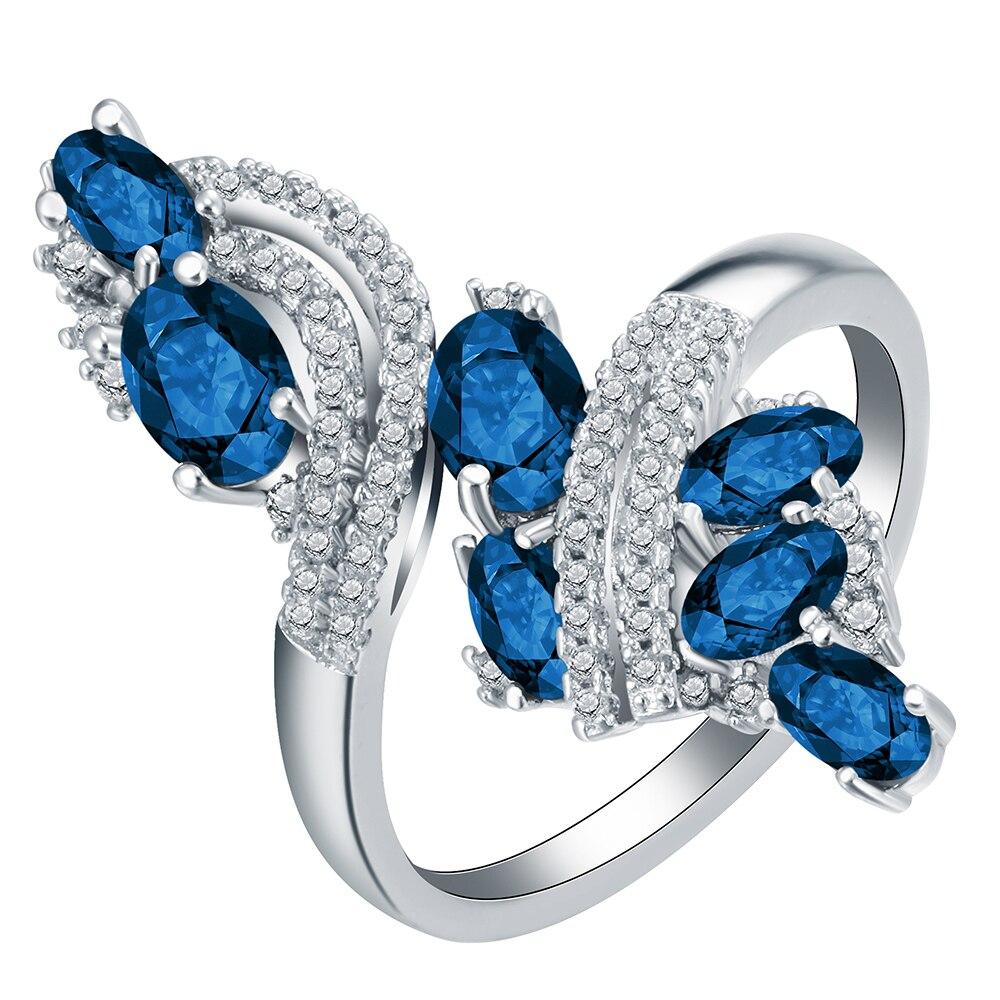 Konstruktiv Wunderschöne Schwarz Royal Blau Cz Kristall Ring Versprechen Engagement Ringe Für Frauen Mode 10kt Weiß Gold Gefüllt Schmuck Schmuck & Zubehör Hochzeits- & Verlobungs-schmuck