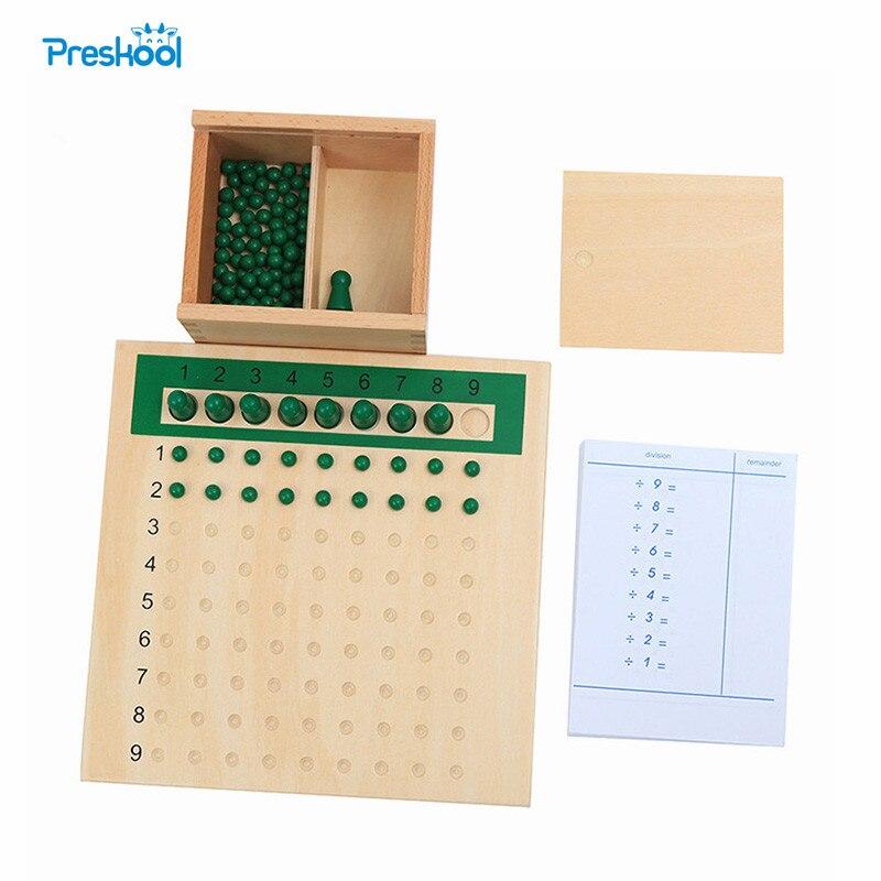 Bébé jouet Montessori Division conseil de perles et Tables pour l'éducation de la petite enfance jouets de formation préscolaire