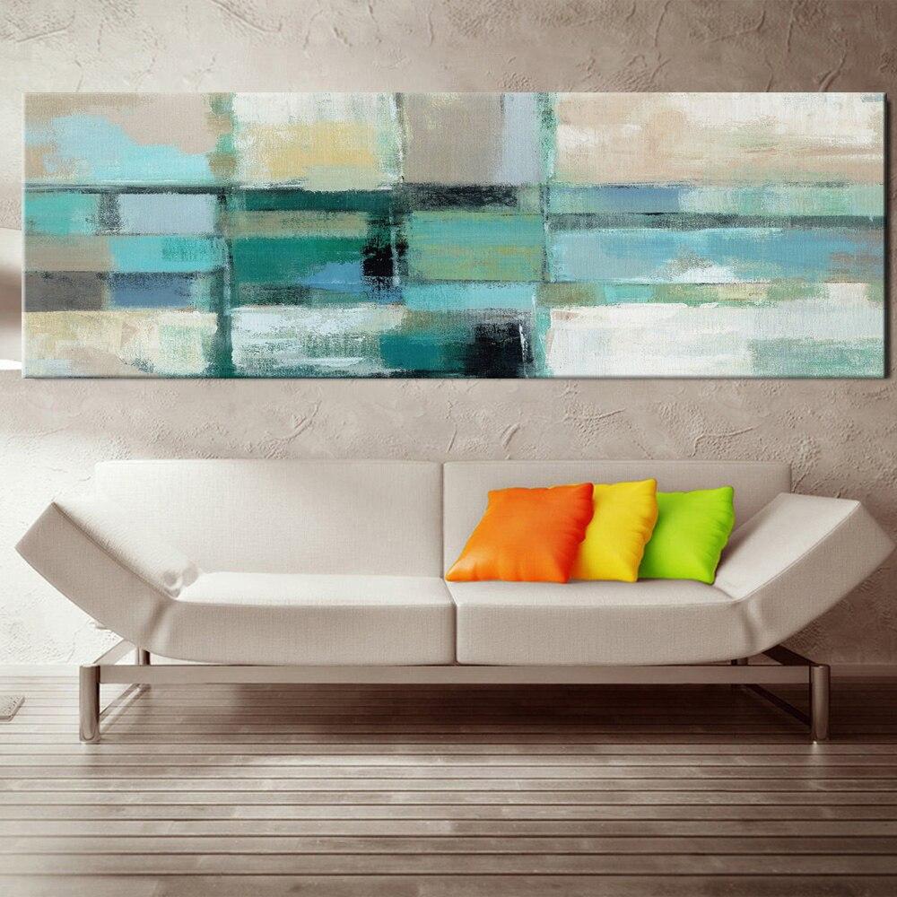 3 49 50 De Réduction Peinture à L Huile Abstraite Moderne Peinture Sur Toile Bleu Clair Impression Affiche Peinture Murale Art Pour Chambre Salon