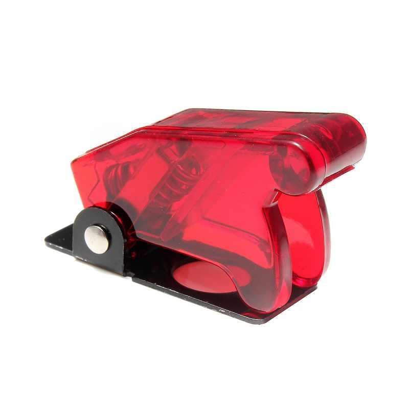 1 adet Beyaz/Kırmızı/Sarı/Mavi/Yeşil/Koyu Kırmızı/Karbon Fiber Yeni Geçiş Anahtarı su geçirmez Çizme Plastik Güvenlik Kapak kapak Kapağı