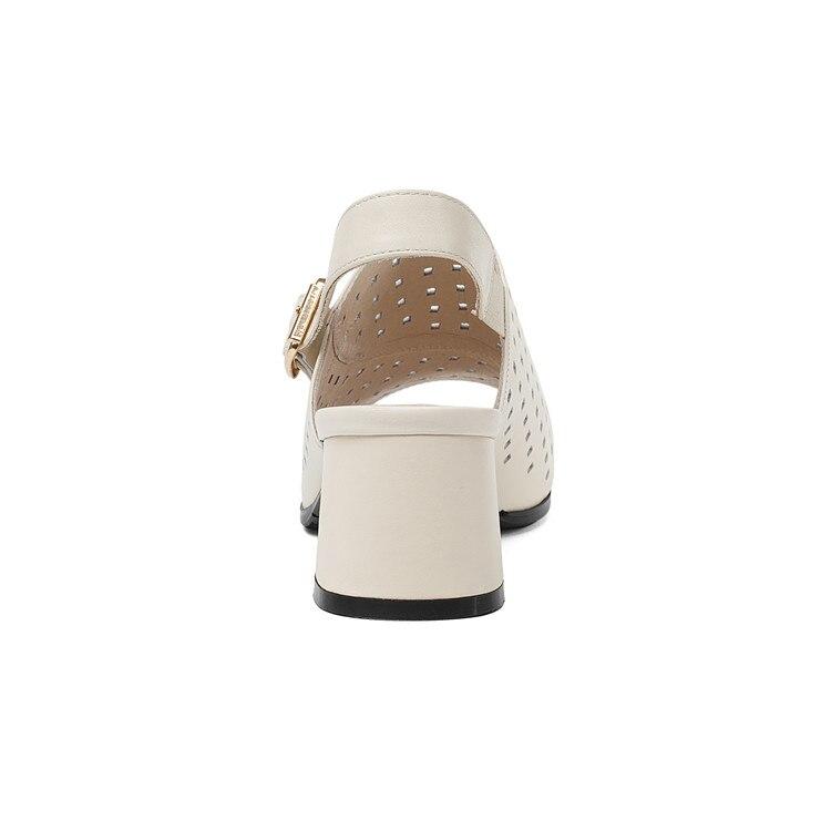 Talons Boucle 34 2018 Toe Beige Mljuese Pompes Haute Style 43 D'été Silver Femmes Peep Sandales Sangle Cuir dark Taille Découpes Véritable En 68F8xT