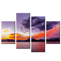 Home Decor Canvas Printed Painting Poster The Sunset Over The Sea Wall Decor Modular Decoration Spray Printing Waterproof Canvas
