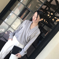 2018 Deva Fashion New Women's Grey Silk blouse shirt