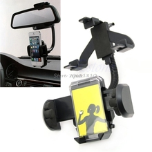 Holder Car Rearview Mirror Mount For Cell Phone For iPhone 5 5C 5S For Samsung S3 S4 GPS Z09 Drop ship
