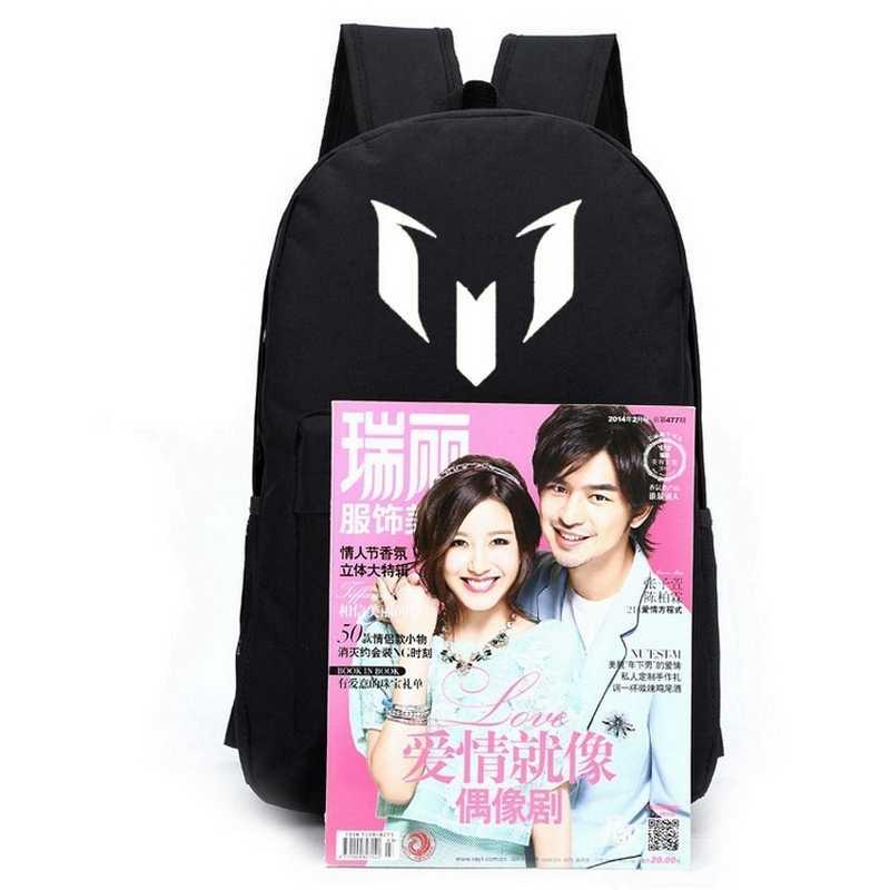 Рюкзак Месси для подростков, школьная сумка для подростков, школьная сумка для мальчиков, Черная мужская сумка для книг, 2019