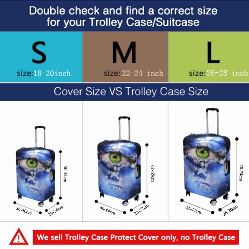 Noisydesigns motivo de peces azul equipaje cubierta de protección antipolvo maleta con ruedas cubierta elástica en 18/20/22/24/26/28 pulgadas