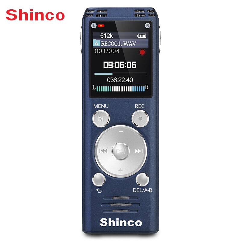 Shinco RV20 32G veszteségmentes hangrögzítő hangminőség Professzionális távoli zajcsökkentés Hosszú távú rekord rádió funkció