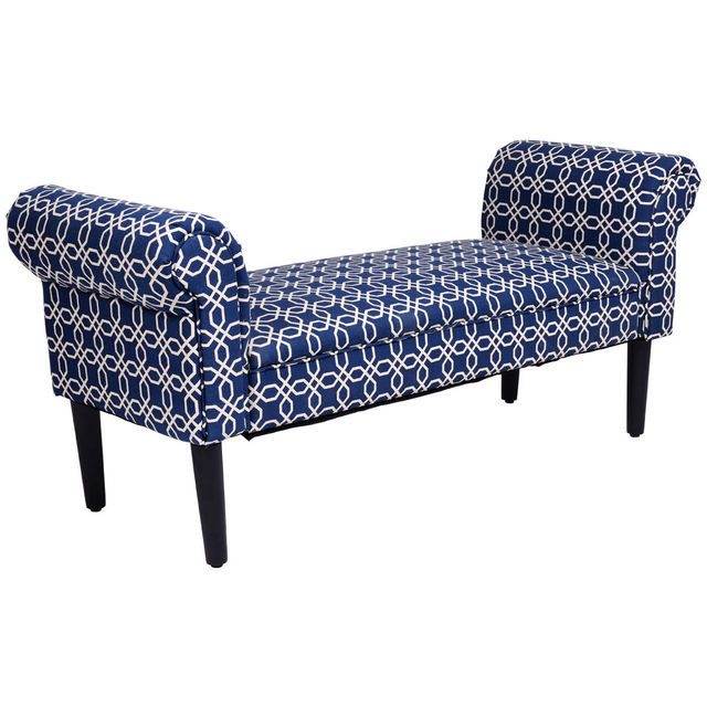 Giantex 53.5″ Bed Bench Rolled Arm Sofa Chair Home Furniture Padded Bedroom  Modern Bench Sofa Bed HW56834