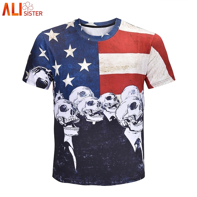 73dc3831fc0 Alisister US Skull Ironic T Shirt Men Women Plus Size Tee Shirt Homme De  Marque Summer Harajuku Short Sleeve Brand Clothing