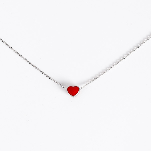 2017 Sweety Lovely Red Heart Chokers Necklaces For Women Kol