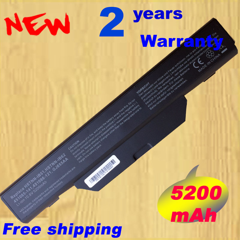 HSW 5200mAh Battery for COMPAQ 510 511 610 615 for HP 550 Business Notebook 6720s 6720s/CT 6730s 6730s/CT 6735s 6820s 6830s