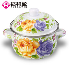 18cm Enamel pot sauceboxes soup thickening cooker non-stick milk pan furnace porcelain enamel cookware kitchen utensil