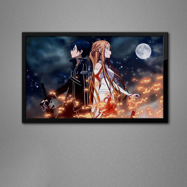 Sword Art Online Sword domain kirito asuna egiru kurain hiisukurihu shirika rizubetto diy Digital oil painting hand painting