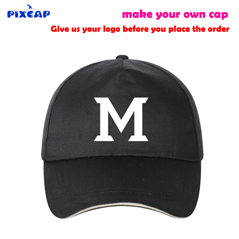 cotton logo hat  Cotton Logo Printed Photo Letter Name Cap Adult Bend Brim Hat Cooper ...