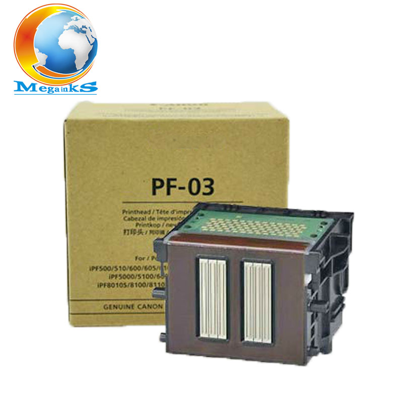PF-03 PF 03 Printhead For Canon IPF 500 510 600 605 610 700 710 720 810 815 820 825 5000 5100 6100 6000S 8010 9000 Printer Head bulk ink system with refillable cartridge for canon ipf 500 510 600 610 700 710 605 for empty cartridge with permanent chip