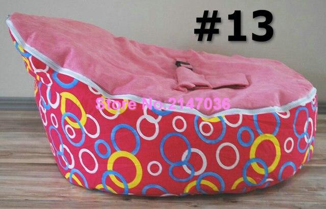 Círculo patrón silla del bolso de haba del bebé, tela de algodón ...