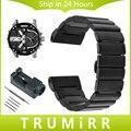 26mm faixa de relógio de aço inoxidável + removedor de ligação para mulheres dos homens diesel dzmc0001 wrist strap butterfly fivela pulseira preta prata