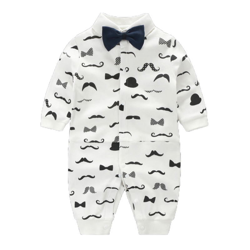 bda8ee3e8392 Christmas Baby Boy Clothes Autumn Baby Rompers Gentleman Infant ...