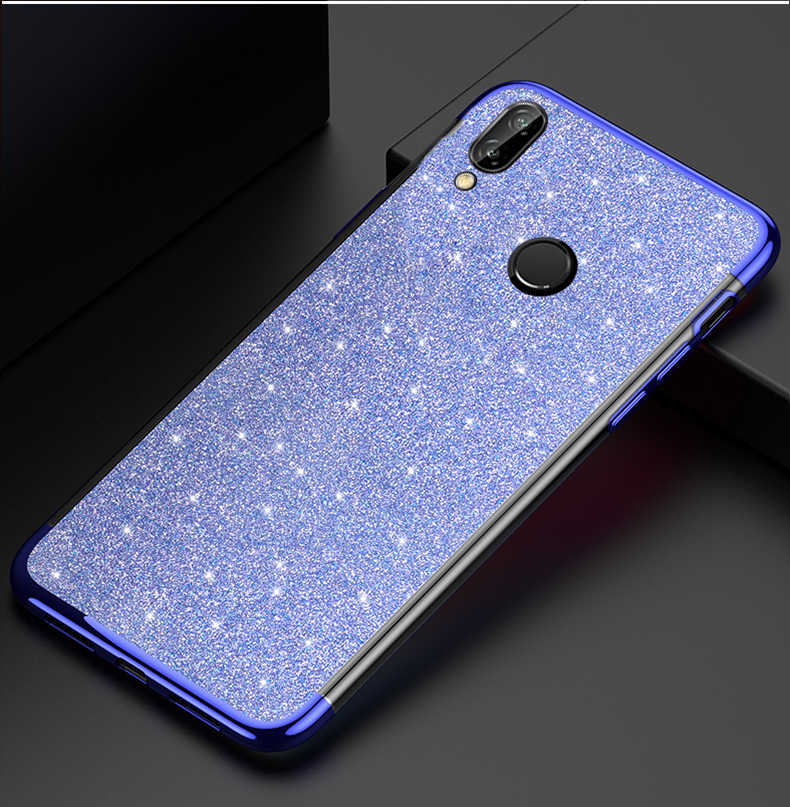 Bling Rubber Glitter Case for Huawei Y6 2019 Y7 Y5 Prime 2018 Y9 P30 P20 Lite Honor 20 Pro 10I 8S 8A 8C 8X Soft Silicone Case