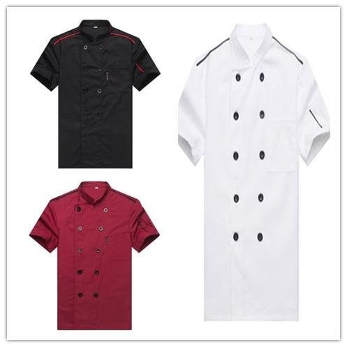 반팔 요리사 서비스 호텔 작업복 레스토랑 작업복 툴링 유니폼 쿡 탑 주방 쿡 요리사 고품질