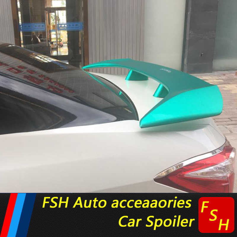For Toyota Camry Corolla Mark II Spoiler High Quality ABS Material Car Rear Wing Primer Color Rear for Toyota Sedan Universal