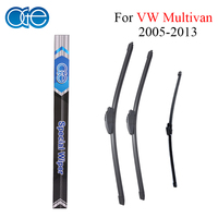 Combo Silicone Rubber Front And Rear Wiper Blades For VW Multivan 2005 2013 Windscreen Wipers Car