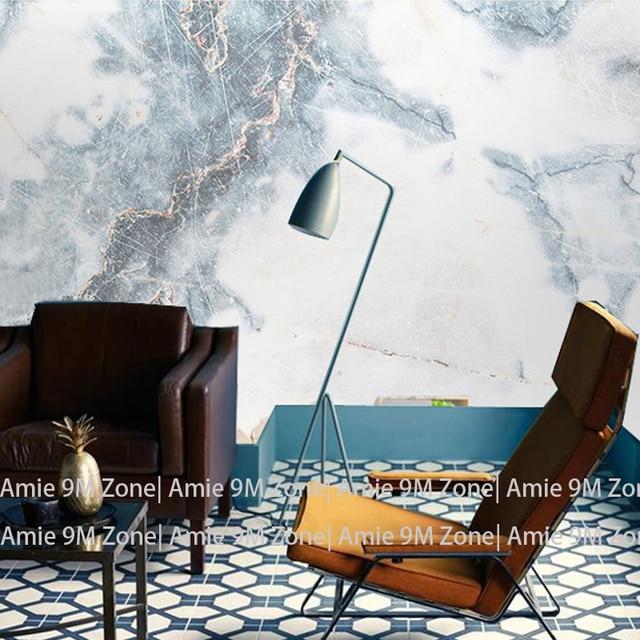 Tuya Art vintage blanc et bleu marbre texture papiers peints de ...