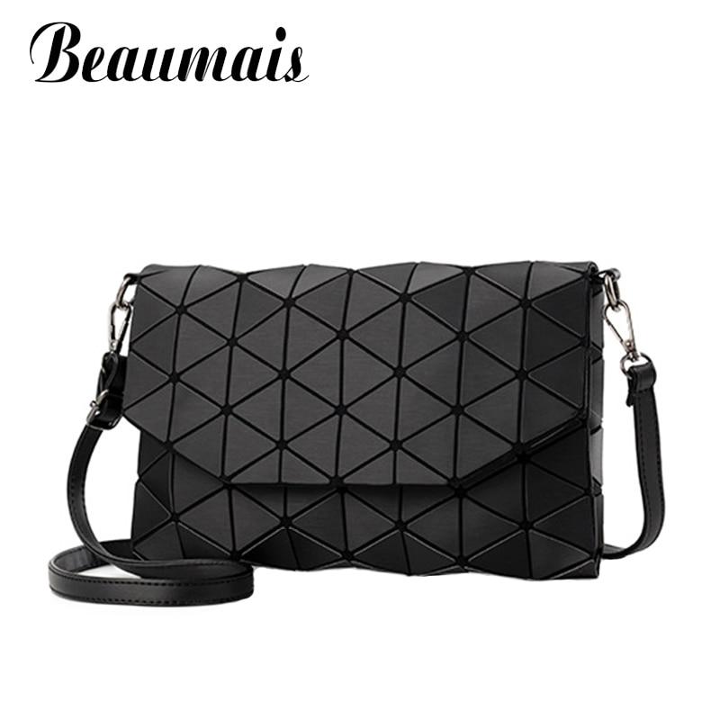 Beaumais Fashion Bag Women New Designer Messenger Crossbody Bag For Women Tote Geometry Shoulder Bags Folding Handbags WBS305