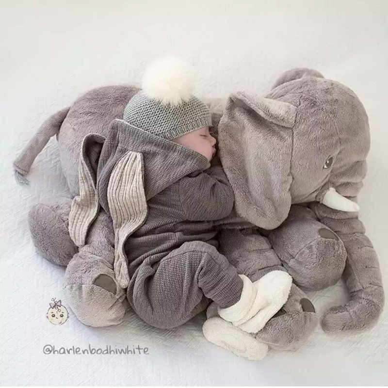 Sıcak güzel 1 adet 40 cm/60 cm yatıştırmak fil yastık yumuşak uyku dolması hayvanlar peluş oyuncaklar bebek oyun arkadaşı hediyeler çocuklar için