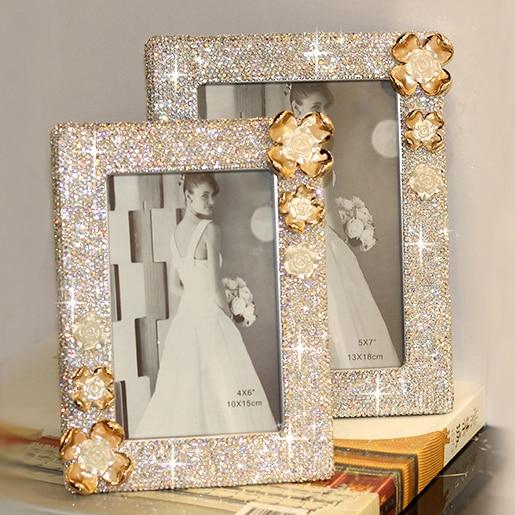 Wedding Gift Photo Frame: Wedding Photo Frame Decorative Photo Frame Crystal Photo