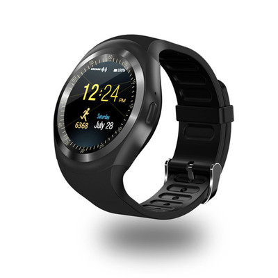 The new Y1 circular screen smart watch sports in the open air Bluetooth phone watches card multifunctional smart watches the new style mtk6260a gt09 smart watches z60 z50 touch with sim cards sports bluetooth watches mobile phones lsb01097