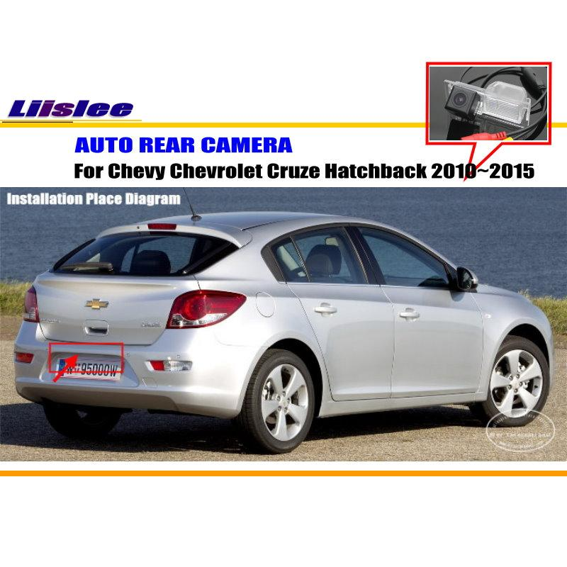 liislee reverse rear camera for chevrolet chevy cruze hatchback 2010~2015  parking camera / ntst pal / license plate lamp cam-in vehicle camera from