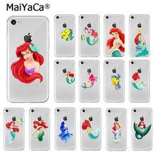 MaiYaCa princesa sirena Ariel Flounder TPU accesorios de teléfono suave de la caja del teléfono para iPhone 8 7 6 6S Plus X XS X MAX 5 5S SE XR cubierta
