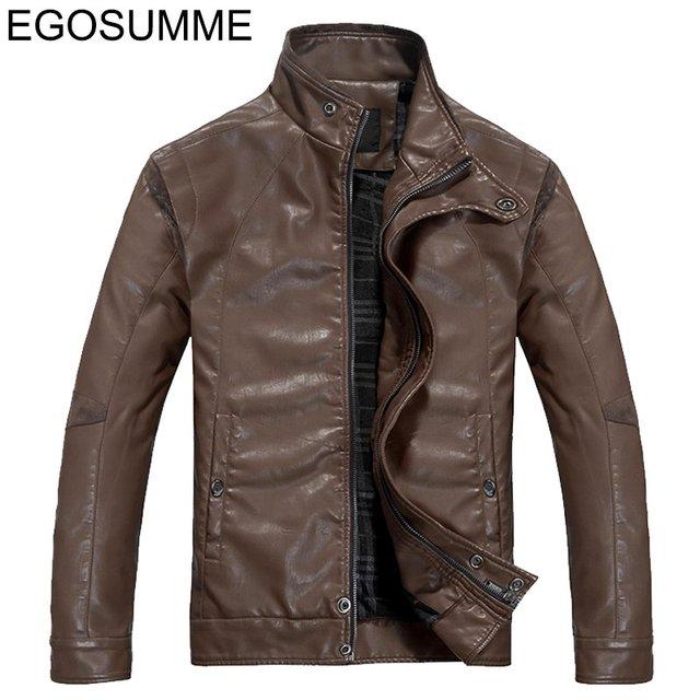 2013 new the large sizes men leather coat spring men's leather jackets the clothing men's jacket XXXL free shipping FLM003