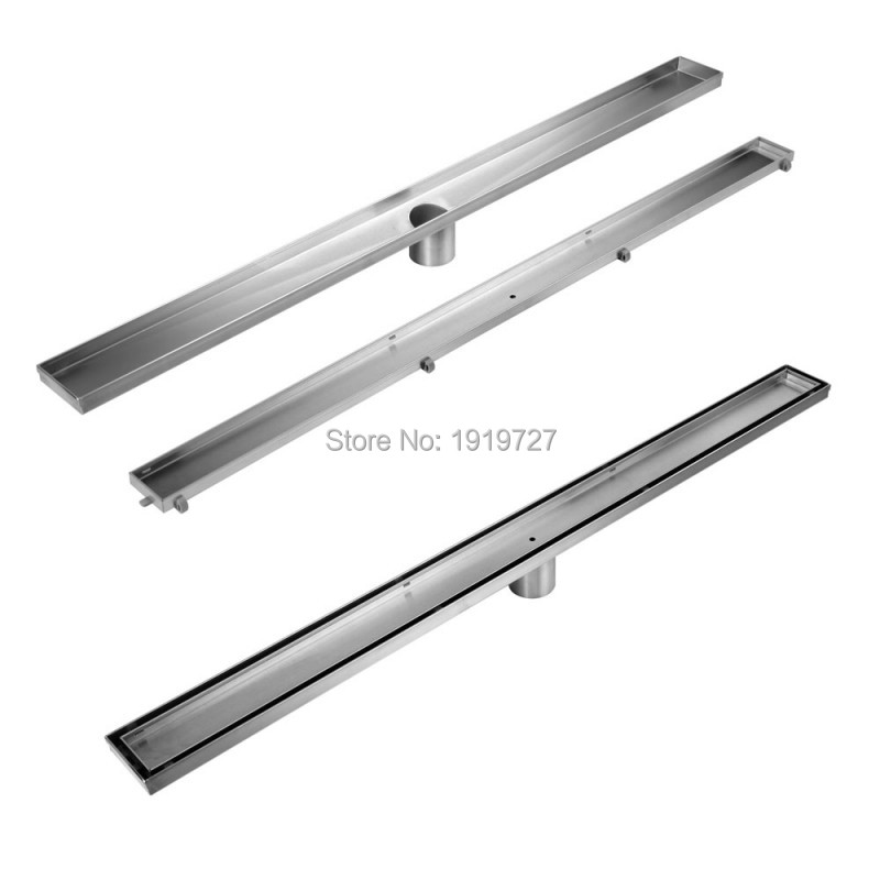 Bagnolux Super Heavy-duty Hardware Tile Insert 304# Stainless Steel Linear Shower Bathroom Grate Floor Drain Centre Outlet Waste 70cm 304 stainless steel linear nickel brushed toilet floor drain strainer grates waste bathroom shower overflow part pjdl015 5