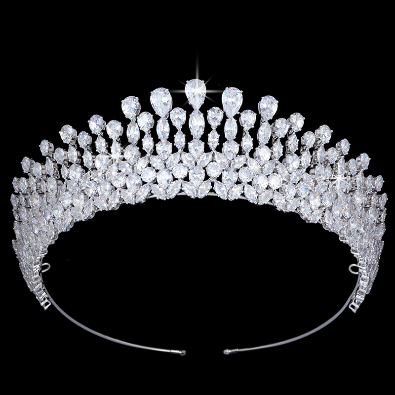 Tiaras And Crowns Hair Jewelry Vintage Simple Water Droplets Shape Design Elegant BC5092 Women Wedding Party