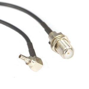 Image 5 - 100 חתיכות RF מחבר F כדי CRC9 כבל F נקבה כדי CRC9 בזוית RG316 RG174 צמת כבל 15cm