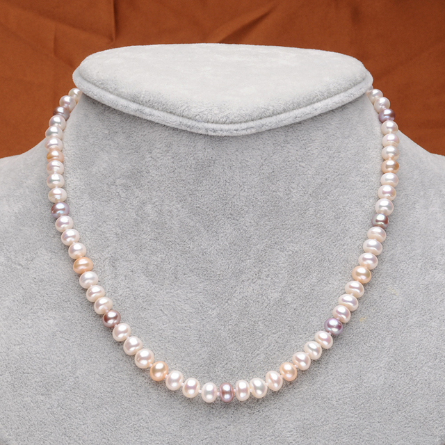 Multicolor Natural Freshwater Pearl Necklace