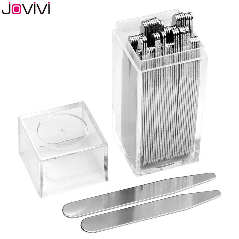 Jovivi 36 Pcs / 40 Pcs Metal Collar Stays Bones Stiffeners 2.2
