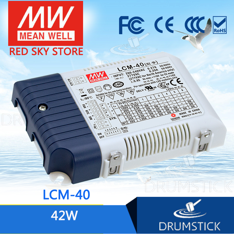 Selling Hot MEAN WELL original LCM-40 80V 500mA meanwell LCM-40 80V 42W Multiple-Stage Output Current LED Power Supply