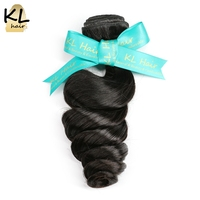 KL Hair Brazilian Loose Wave Hair Bundles 100 Human Hair Weaving Natural Color 8 28 Remy