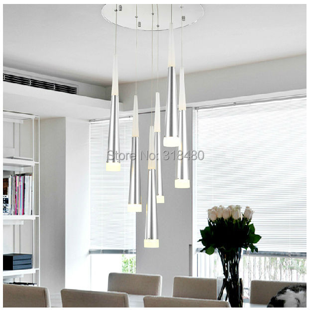 36W LED Modern Luxury Chandeliers lights Fixtures 6 Arcrylic lamp shade use font b Bar b