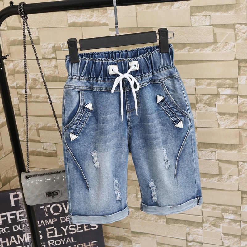 86973952e24 ... Большой размеры для женщин жира мм летние студенты джинсовые шорты  женский 200 фунтов плюс пять очков ...