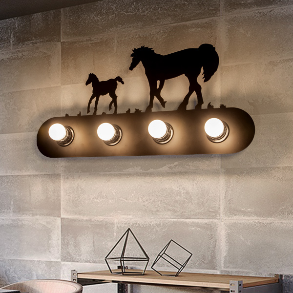 ФОТО American simple retro 4 heads Wall lights minimalist industrial wall lamp bedside bedroom living room aisle stairs mirror lamp