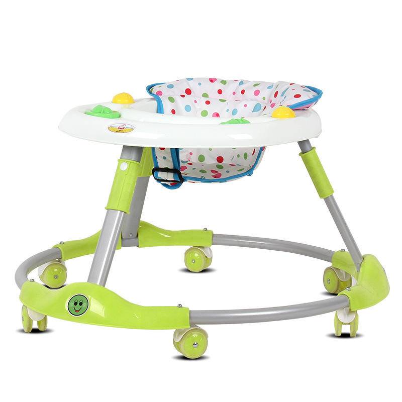 New 6-18Months Baby Foldable Walker Early Educational Kids Toddler Trolley Sit-to-Stand Walker Baby Balance First Steps Car