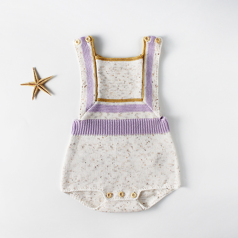 Strapped Newborn baby clothes boy girl knitted romper jumpsuits Overalls 2018 Summer Wool Baby Romper Jumpsuit Outfits 0-2Y Kids