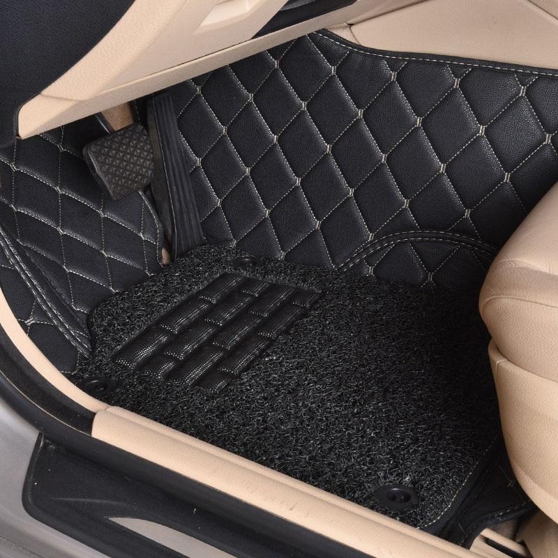 Custom car floor mats for Volkswagen Beetle CC Eos Golf Jetta Passat Tiguan Touareg 3D car styling carpet