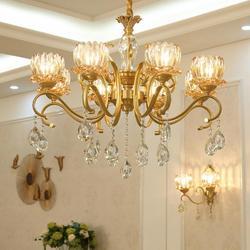 Hotel Led żyrandol oprawy światła do salonu kryształowy klosz lamparas jadalnia sypialnia proste nowoczesne oświetlenie Led lustre